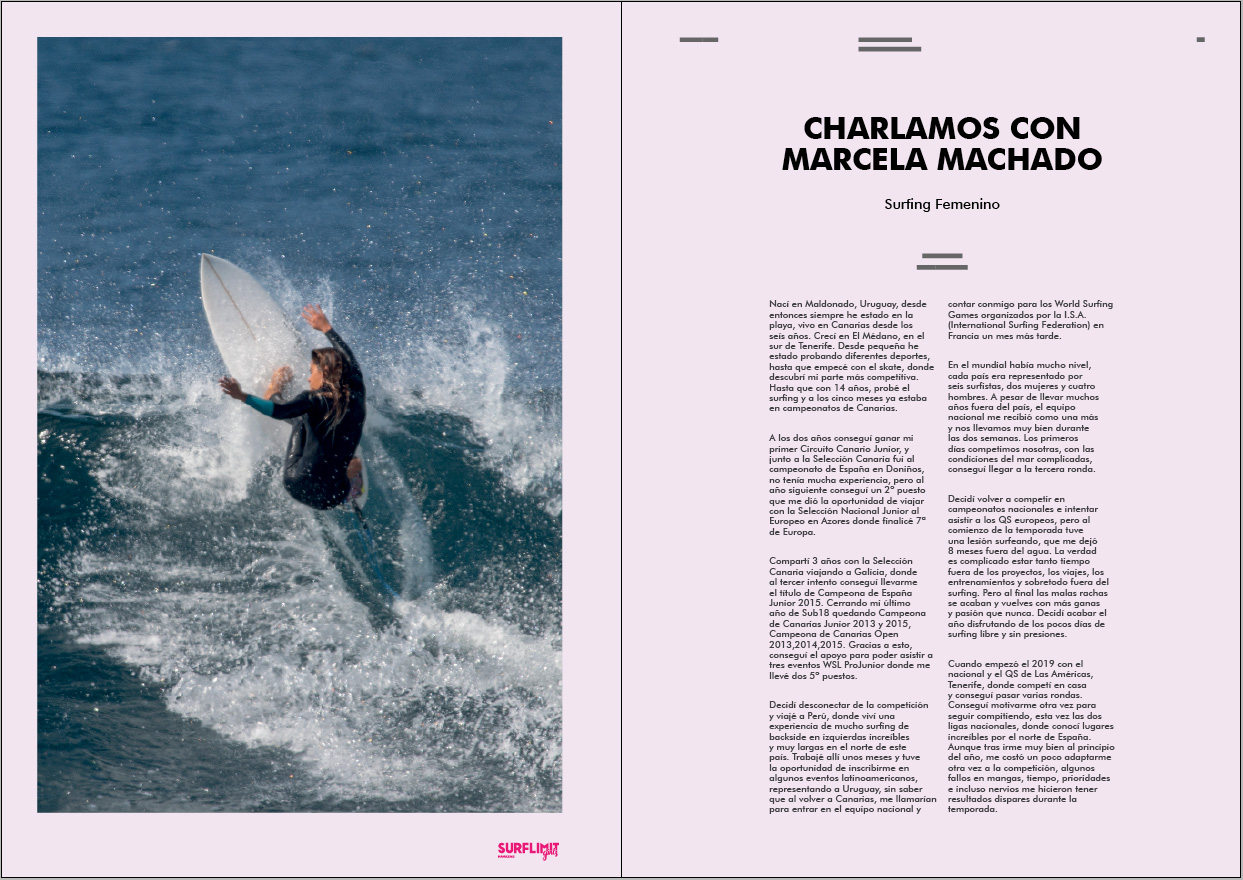 Marcela Machado surf limit magazine